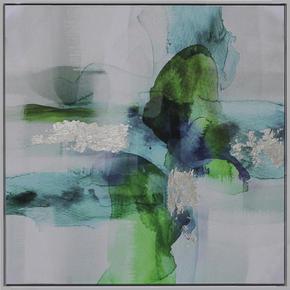 OLJEMÅLNING - vit/multicolor, Basics, trä/textil (55/55cm) - Monee
