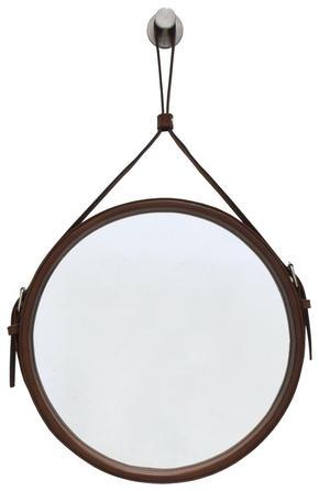 VÄGGSPEGEL - brun, Klassisk, metall/glas (60cm)