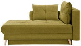 LIEGE in Textil Gelb, Goldfarben - Eichefarben/Gelb, KONVENTIONELL, Holz/Textil (166/96/104cm) - Venda