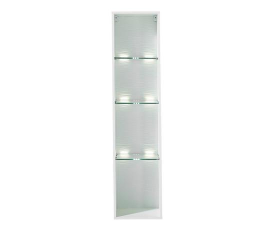 VISEČI ELEMENT - bela, Design, steklo/leseni material (35/150/28cm) - Hom`in