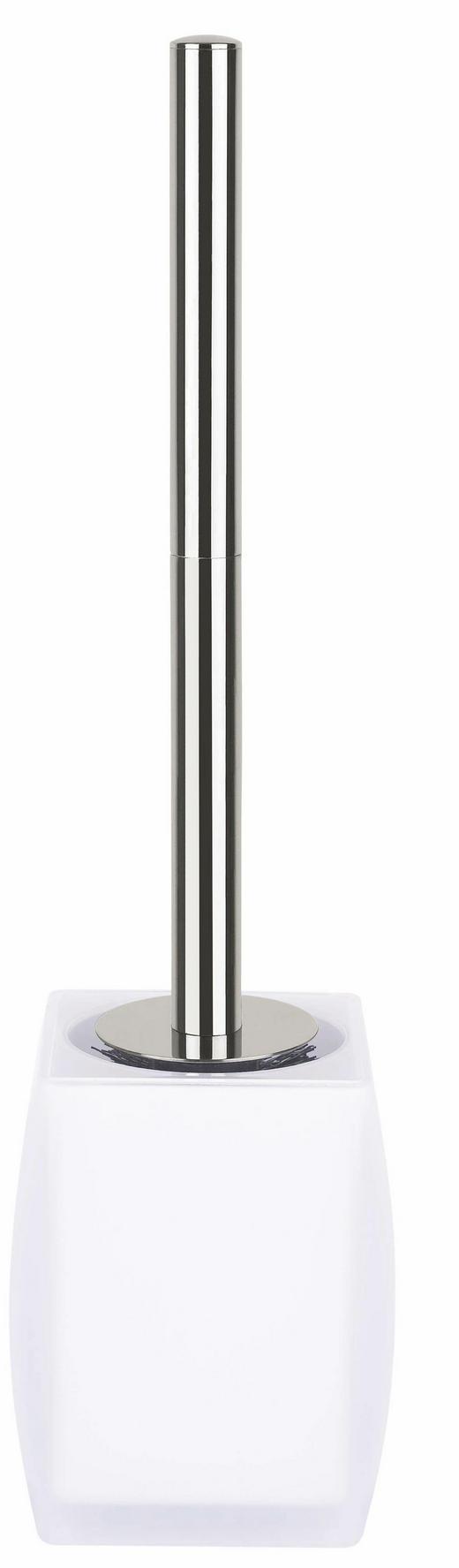 WC-BÜRSTENGARNITUR - Edelstahlfarben/Weiß, Basics, Kunststoff/Metall (10,3/39,5cm) - Spirella