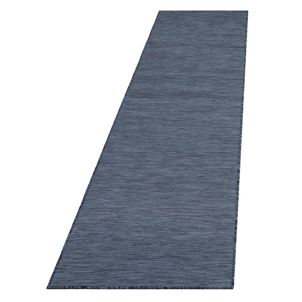 Novel Läufer in-/ outdoor 80/250 cm blau