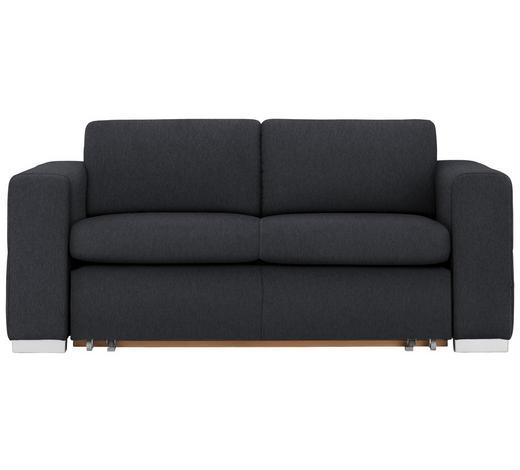 SCHLAFSOFA in Textil Schwarz  - Silberfarben/Schwarz, KONVENTIONELL, Kunststoff/Textil (190/83/98cm) - Carryhome