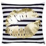 Zierkissen Carla - Goldfarben/Schwarz, MODERN, Textil (45/45cm) - Luca Bessoni