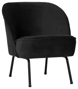 FÅTÖLJ - blå/svart, Modern, metall/trä (57/69/70cm) - Ambia Home