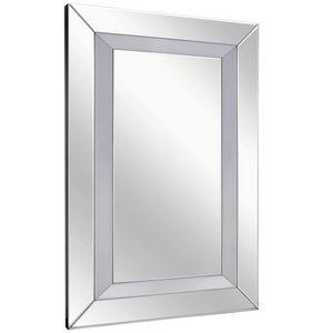ZIDNO OGLEDALO - Srebrna, Dizajnerski, Staklo/Pločasti materijal (80/120/4,8cm) - Ti`me