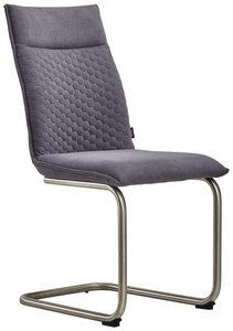 STOLICA NA SANKAMA - Siva/Boja nerđajućeg čelika, Dizajnerski, Tekstil/Metal (47/92/59cm) - Xora