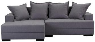 WOHNLANDSCHAFT in Textil Grau  - Dunkelbraun/Grau, KONVENTIONELL, Kunststoff/Textil (148/238cm) - Carryhome