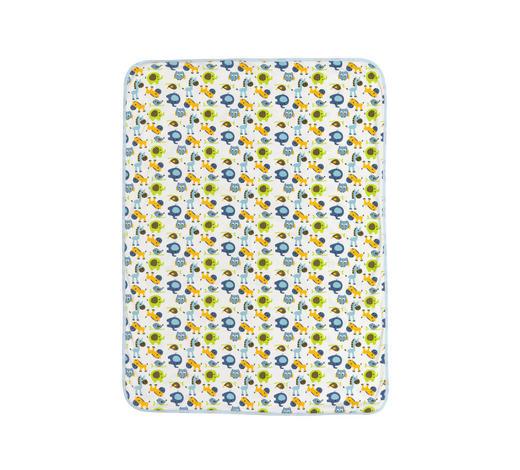 SCHMUSEDECKE 75/100 cm - Blau/Weiß, Basics, Textil (75/100cm) - My Baby Lou
