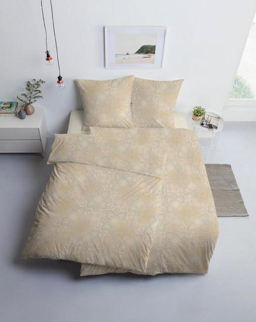 BETTWÄSCHE Interlock-Jersey Beige - Beige, MODERN, Textil (27/37/4cm) - Estella