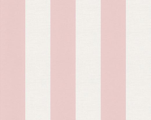VLIESTAPETE 10,05 m - Rosa/Weiß, Design, Textil (53/1005cm)