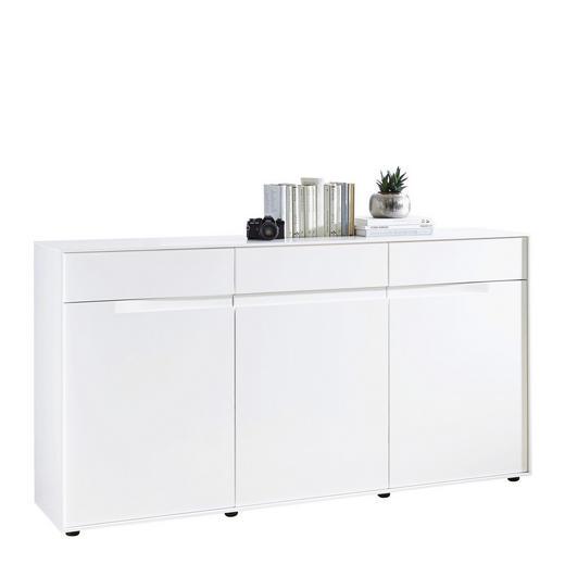 SIDEBOARD - vit/svart, Design, träbaserade material/plast (179,6/91,3/40cm) - NOVEL