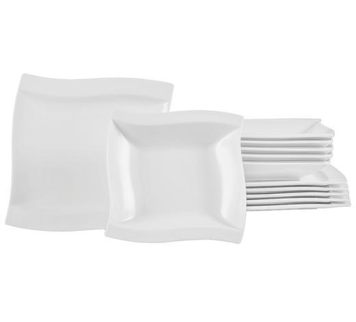 SERVIS JÍDELNÍ, 12-dílné, porcelán - bílá, Basics, keramika - Novel