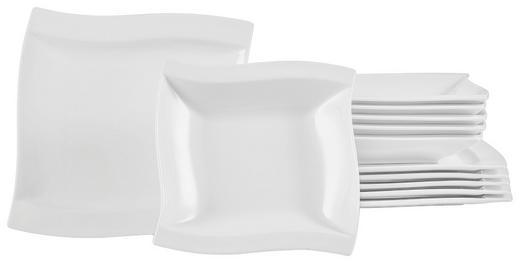 Porzellan  TAFELSERVICE  12-teilig - Weiß, Basics, Keramik - Novel