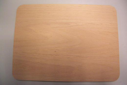 SCHNEIDEBRETT Holz Buche - Buchefarben, Holz (24/15/1cm) - Justinus