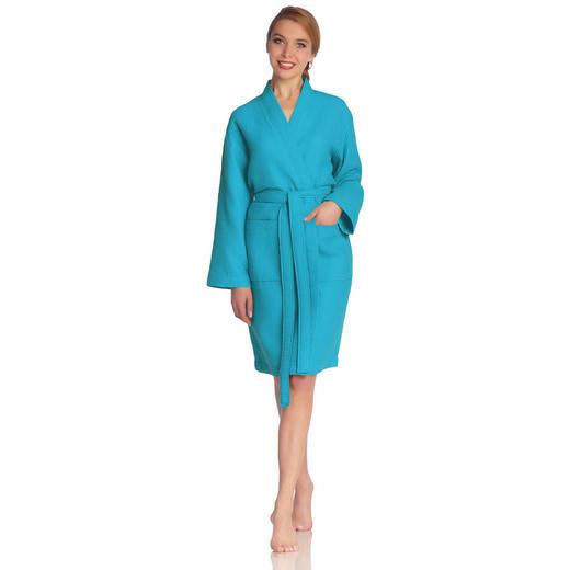 BADEMANTEL  Blau - Blau, Basics, Textil (XS) - Vossen