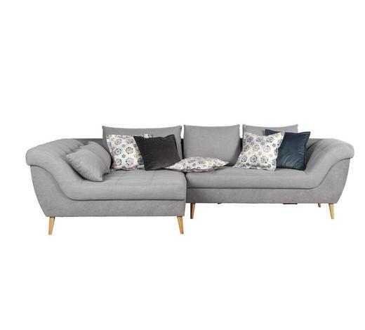 SEDACÍ SOUPRAVA, textil, šedá - šedá/přírodní barvy, Design, dřevo/textil (175/313cm) - Carryhome