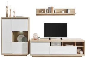 HYLLKOMBINATION - vit/ekfärgad, Design, glas/träbaserade material (280/180/48cm) - Ti`me