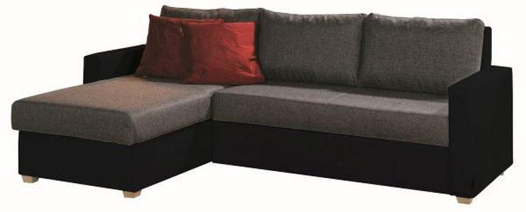 GARNITURA ZA DNEVNU SOBU - Crna/Prirodna boja, Dizajnerski, Tekstil (155/230cm) - Xora