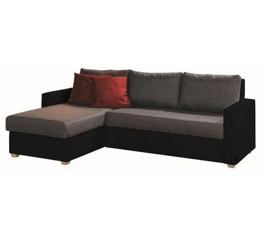 SJEDEĆA GARNITURA - siva/prirodne boje, Design, tekstil (155/230cm) - Xora
