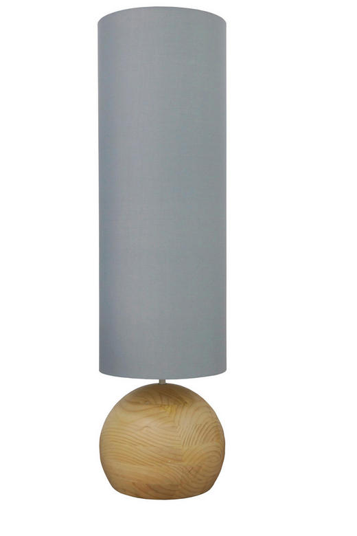 STEHLEUCHTE - Grau, LIFESTYLE, Holz/Textil (36/130/36cm)