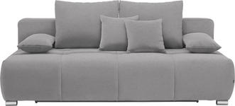 SCHLAFSOFA in Textil Dunkelgrau - Chromfarben/Dunkelgrau, Design, Kunststoff/Textil (212/72-90/108cm) - Hom`in