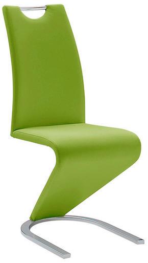 SVIKTSTOL - grön/kromfärg, Design, metall/textil (45/102/62cm)