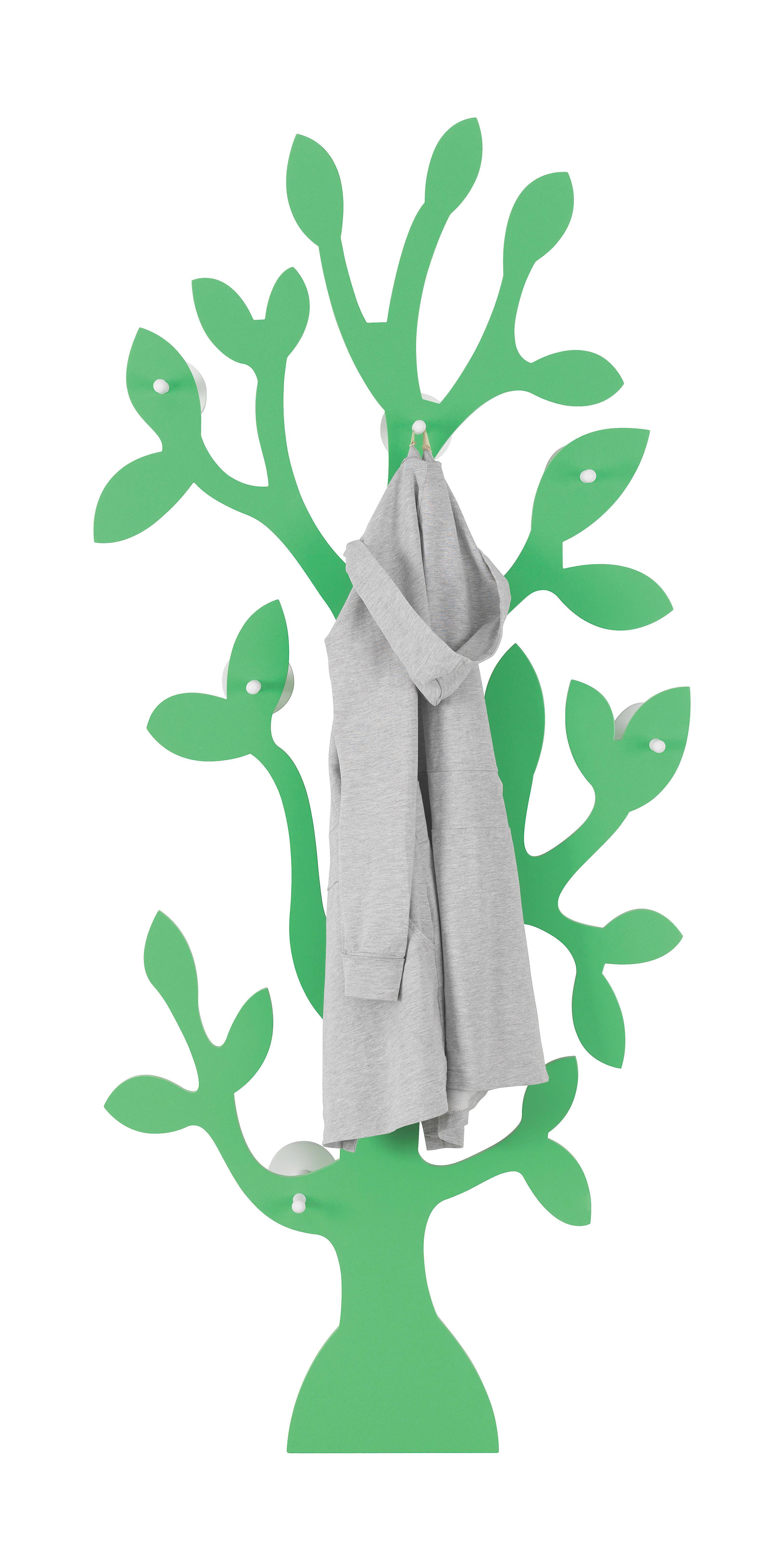 GARDEROBA ZIDNA - zelena, Design, drvni materijal (80/180/20,5cm)