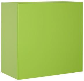 VÄGGHÄNGT SKÅP - ljusgrön, Design, träbaserade material (60/60/34cm)