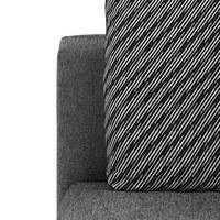 SOFAELEMENT in Textil Grau - Schwarz/Weiß, Design, Textil (105/72/152cm) - Rolf Benz