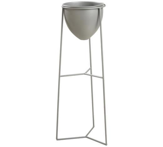 PFLANZENTOPF - Grau, Design, Metall (27,5/70,5/26,5cm) - Ambia Home