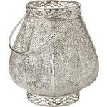 WINDLICHT - Silberfarben, LIFESTYLE, Glas/Metall (20/21,5cm) - Ambia Home