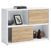 KOMODA SIDEBOARD - šedá/bílá, Design, kompozitní dřevo/umělá hmota (135/91,5/37cm) - Stylife