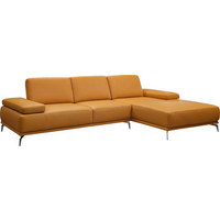 WOHNLANDSCHAFT in Leder Gelb - Chromfarben/Gelb, Design, Leder (298/178cm) - Chilliano
