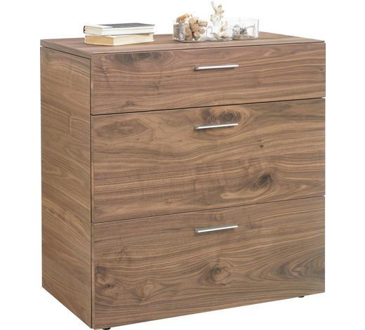 KOMODA, jádrový ořech, barvy ořechu - barvy ořechu, Design, kov/dřevo (88/92,4/51,9cm) - Ambiente by Hülsta