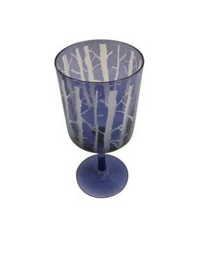 LJUSSTAKE - vit/mörkblå, Lifestyle, glas (9/20cm) - Ambia Home