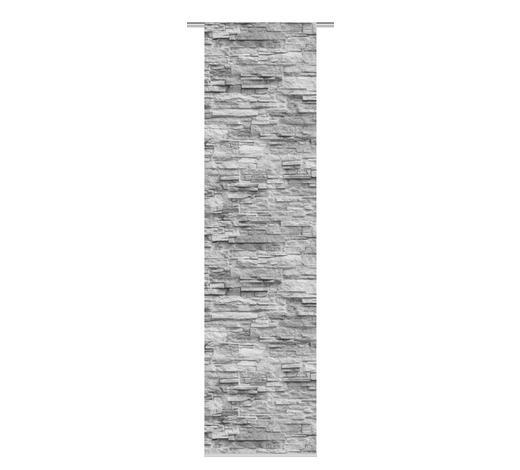 FLÄCHENVORHANG in Anthrazit - Anthrazit, Design, Textil (60/245cm)