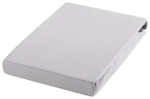 SPANNBETTTUCH Biber Silberfarben bügelfrei - Silberfarben, Textil (200/200cm) - Janine