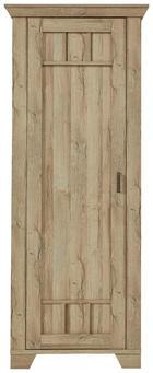 GARDEROBENSCHRANK foliert Eichefarben - Eichefarben, Design, Holzwerkstoff/Metall (78/199/45cm) - LANDSCAPE