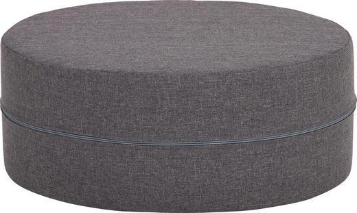 HOCKER Dunkelgrau - Dunkelgrau, Design, Textil (50/20cm) - CARRYHOME
