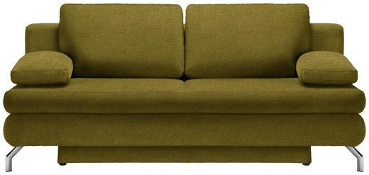 SCHLAFSOFA in Textil Gelb, Goldfarben - Chromfarben/Gelb, Design, Textil/Metall (200/91/92cm) - Novel