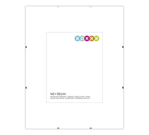 KLIPOVÝ RÁMEČEK, 50/40/1 cm, čiré - čiré, Basics, sklo (50/40/1cm) - Boxxx