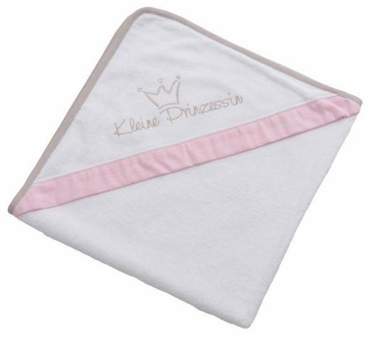 KAPUZENBADETUCH - Rosa/Weiß, Basics, Textil (80/80cm)