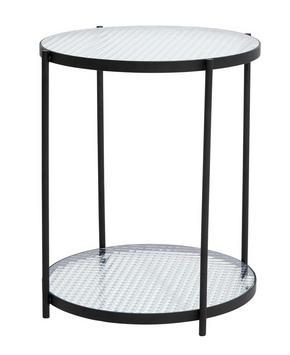 AVLASTNINGSBORD - svart/transparent, Modern, metall/glas (40/50cm)