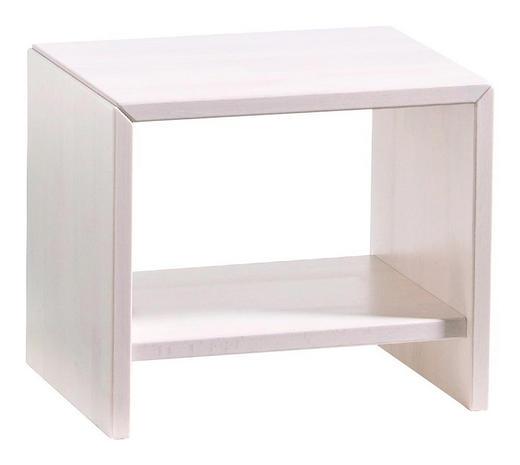 NACHTKÄSTCHEN Buche massiv lasiert Weiß - Weiß, Design, Holz ( 45/38/35cm) - Hasena
