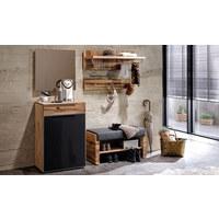 ŠATNÍ LAVICE - šedá/barvy dubu, Natur, dřevo/textil (91/49/38cm) - Voglauer