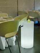 LED SEKTKÜHLER PALMA 70 - Weiß, Design, Kunststoff (35/70cm)