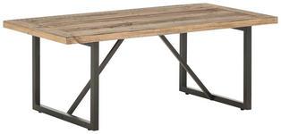 COUCHTISCH in Holz, Metall 120/60/45 cm   - Schwarz/Kieferfarben, Natur, Holz/Metall (120/60/45cm) - Landscape