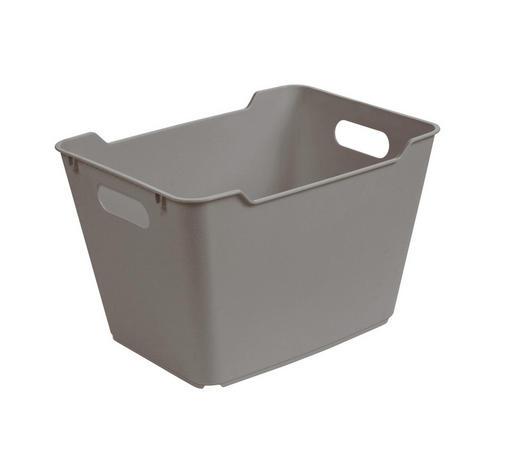 KOŠARA - siva, Basics, plastika (40/28/25cm)