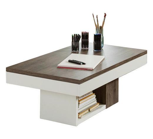 COUCHTISCH Braun, Weiß  - Braun/Weiß, Design (120-166/70/45cm) - SetOne by Musterring